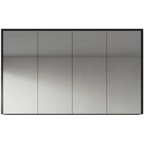 Mueble espejo Cuba 90cm blanco de alto brillo - armario Mueble espejo Espejo baño Mueble baño Mueble de pared