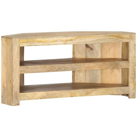 Mueble esquinero para TV de madera maciza de mango 90x45x45 cm