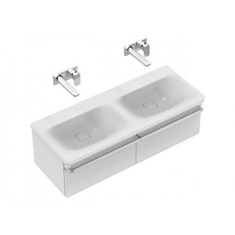 Mueble Ideal Standard Tonic II doble lavabo, sin HL, 1215mm K0871, color: Blanco con Ideal Plus - K0871MA