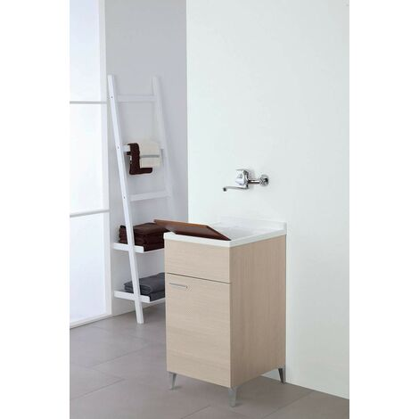 Mueble lavabo 45 x 50 cm en color roble claro Feridras Stella 799066 | roble claro