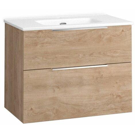 Mueble + lavabo Comet Fondo Reducido   Mueble + Lavabo - No - 80 cm - Roble Natural