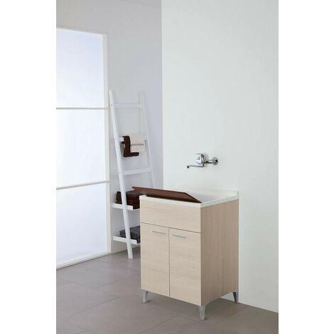 Mueble lavabo con dos puertas en color roble claro L 60 cm Feridras Stella 799068 | roble claro