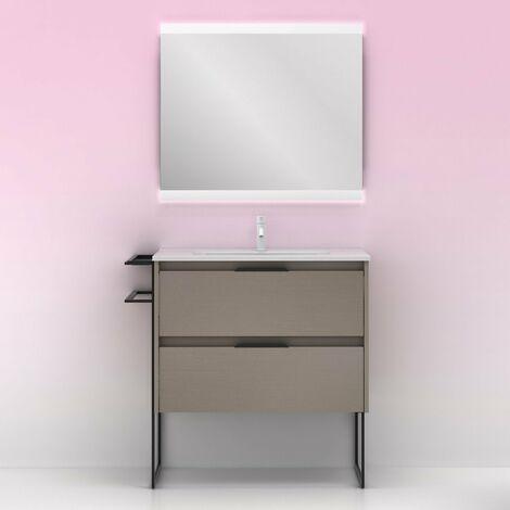 Mueble lavabo KEIKO. Opción Blanco, Gris y Fumé.