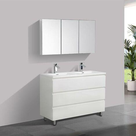 Mueble Lavabo + Lavabo 120 cm MONTADO - Blanco VERONA