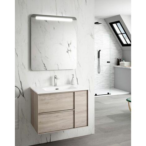 Mueble + lavabo Oslo Suspendido | Mueble + Lavabo - No - 80 cm - Blanco Mate