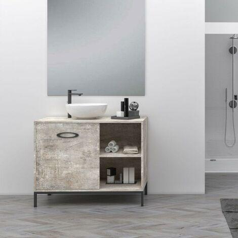 Mueble Lavabo TASMANIA con patas y cuatro espacios de almacenamiento