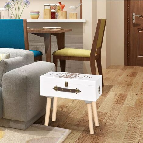 Mueble mesa auxiliar blanco 40x30x41,5 cm
