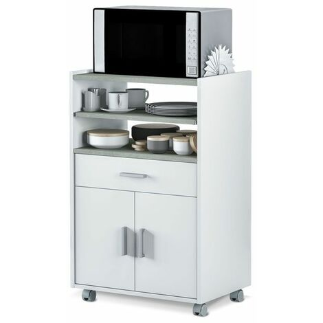 Mueble microondas BasicBlanco Artik - Gris Cemento