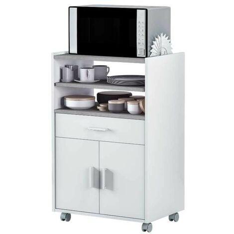 """main image of """"Mueble microondas Plutón bufe cocina aparador estilo moderno 59x40x92 cm"""""""