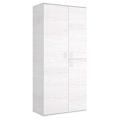 Mueble Organizador taller o habitacion 2 puertas batientes color artic , Medidas: alto 202cm. ancho 90cm. fondo 53cm