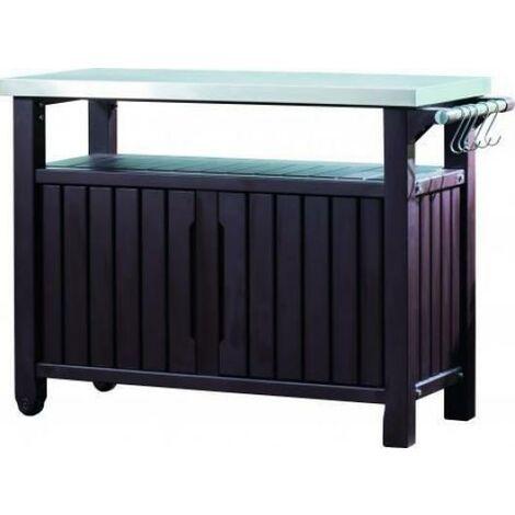 Mueble Para Barbacoa Bbq Wole Steel Top De Resina Keter