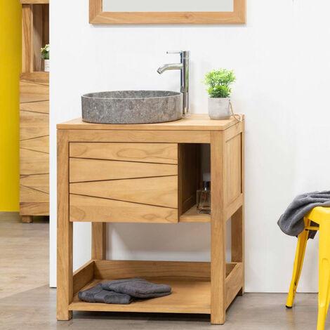 Mueble para cuarto de baño de teca Cosy 67 cm