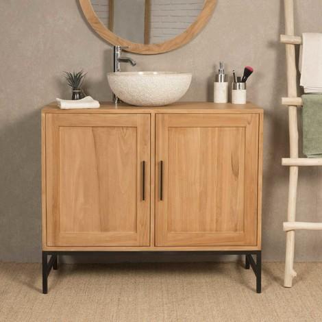mueble para cuarto de baño de teca PABLO 100 CM - 4379