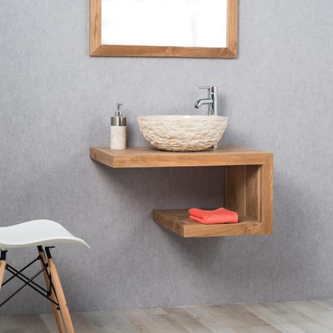 Mueble para cuarto de baño de teca PURO derecha 70 cm - 437_87