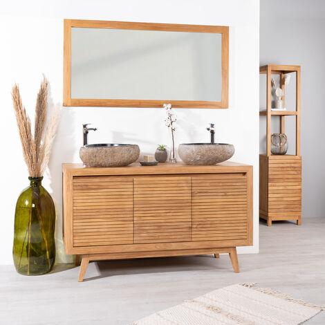 Mueble para cuarto de baño de teca VINTAGE 140