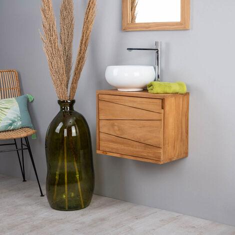 Muebles Para El Cuarto De Bano.Mueble Para Cuarto De Bano Suspendido De Teca Cosy 40cm