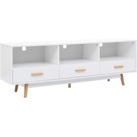 Mueble para la televisión MDF 160x40x55 cm blanco