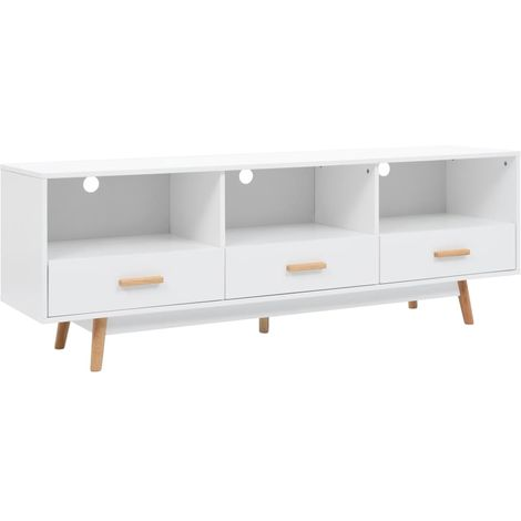 Mueble para la television MDF 160x40x55 cm blanco