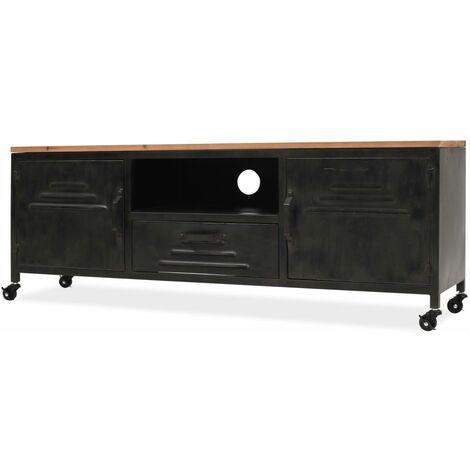 Mueble para la televisión negro 120x30x43 cm