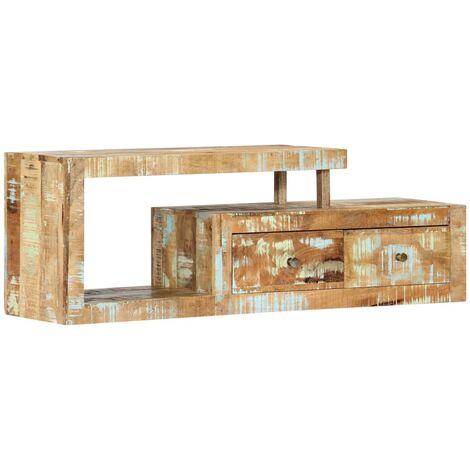 Mueble para la TV 120x30x40 cm madera maciza reciclada