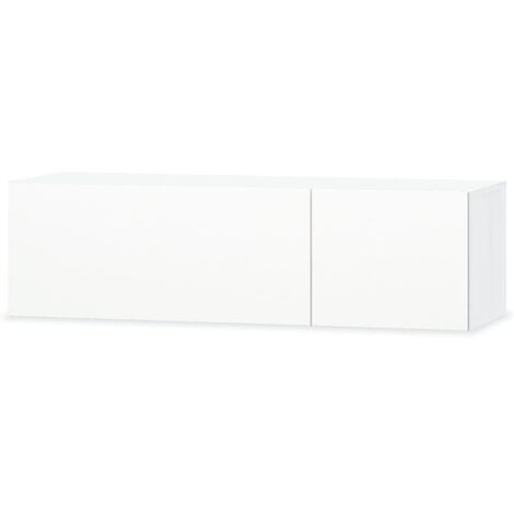 Mueble para la TV aglomerado blanco con brillo 120x40x34cm