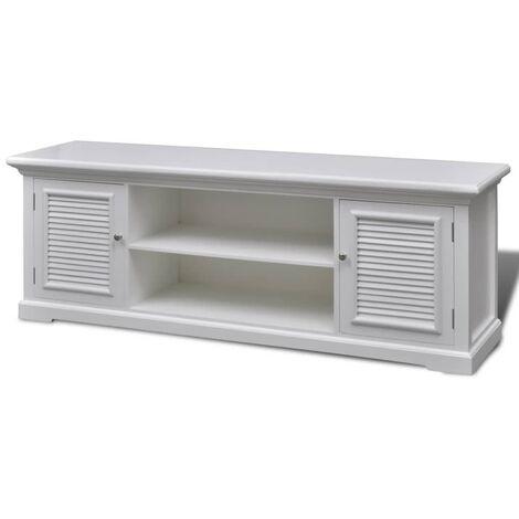 Mueble para la TV de madera blanca
