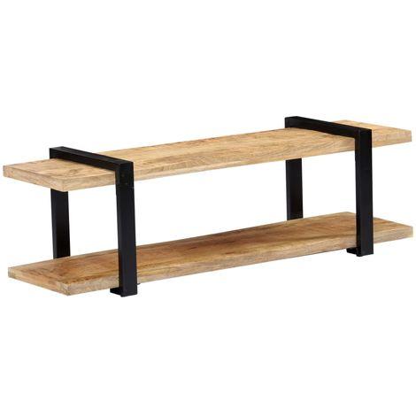 Mueble para la TV de madera maciza de mango 130x40x40 cm