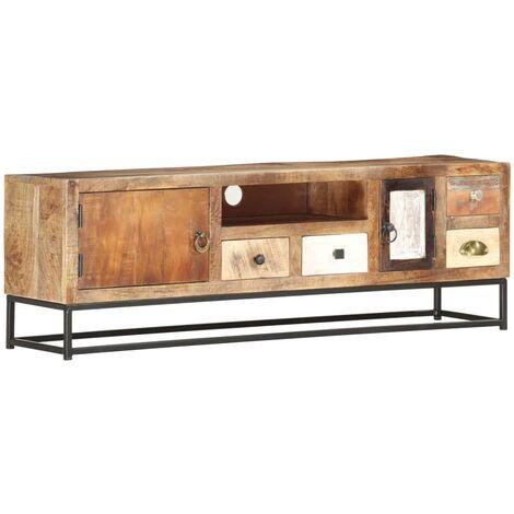 Mueble para la TV de madera maciza reciclada 120x30x40 cm