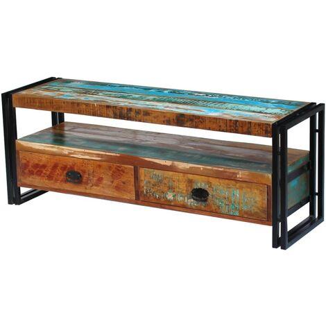 Mueble para la TV de madera maciza reciclada