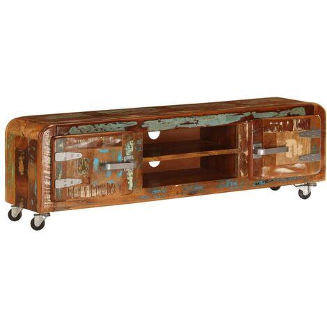Mueble para la TV madera maciza reciclada 120x30x36 cm