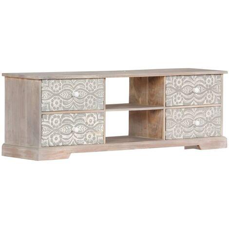 Mueble para TV 120x30x40 cm madera maciza de acacia