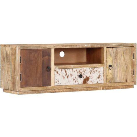 Mueble para TV 120x30x40 cm madera maciza de mango