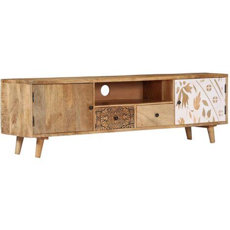 Mueble para TV 140x30x40 cm madera maciza de mango