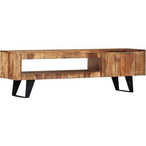 Mueble para TV 140x30x40 cm madera maciza de sheesham