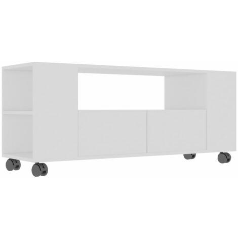 Mueble para TV aglomerado blanco 120x35x43cm