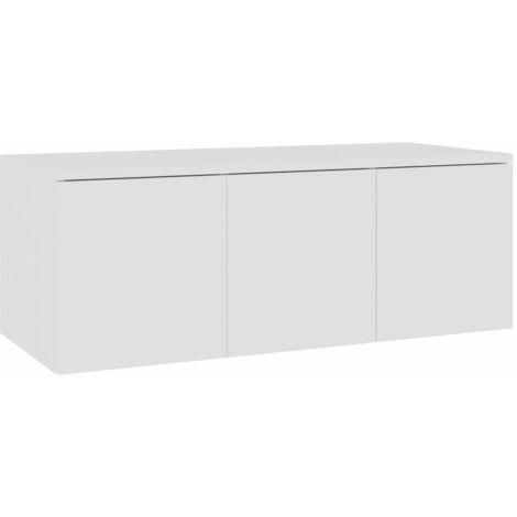 Mueble para TV aglomerado blanco 80x34x30 cm
