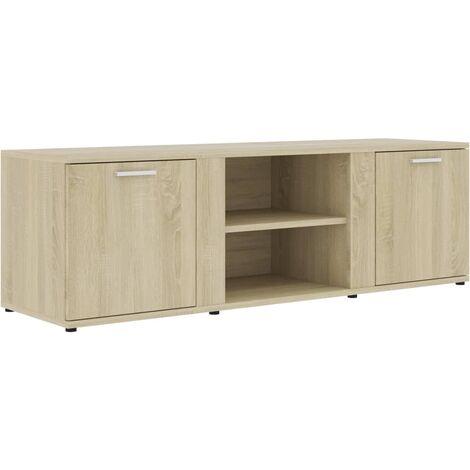 Mueble para TV aglomerado color roble Sonoma 120x34x37 cm