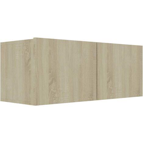 Mueble para TV aglomerado color roble Sonoma 80x30x30 cm