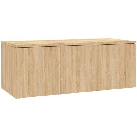 Mueble para TV aglomerado color roble Sonoma 80x34x30 cm