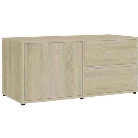 Mueble para TV aglomerado color roble Sonoma 80x34x36 cm