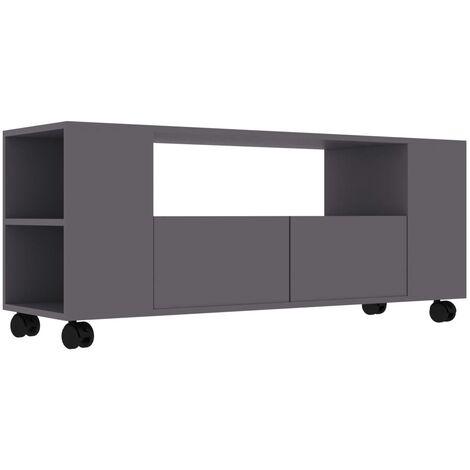 Mueble para TV aglomerado gris 120x35x43cm