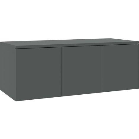 Mueble para TV aglomerado gris 80x34x30 cm