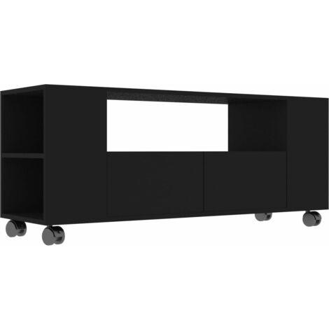 Mueble para TV aglomerado negro 120x35x43cm