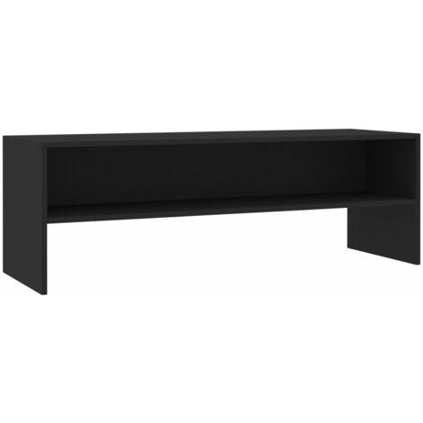 Mueble para TV aglomerado negro 120x40x40 cm