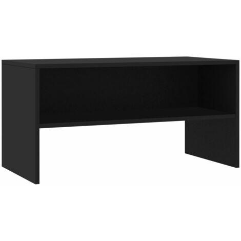 Mueble para TV aglomerado negro 80x40x40 cm