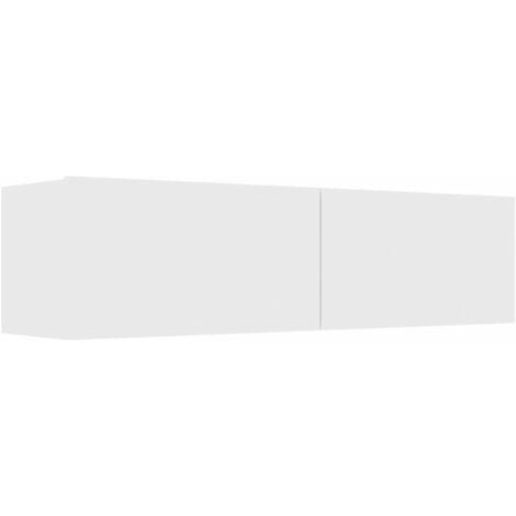 Mueble para TV de aglomerado blanco 120x30x30 cm