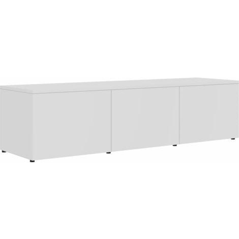 Mueble para TV de aglomerado blanco 120x34x30 cm