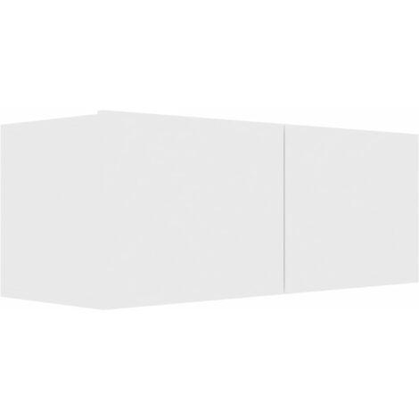 Mueble para TV de aglomerado blanco 80x30x30 cm