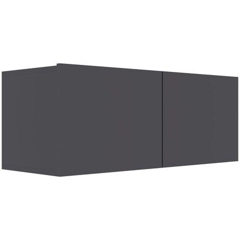Mueble para TV de aglomerado gris 80x30x30 cm