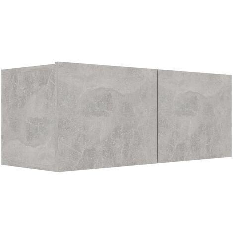 Mueble para TV de aglomerado gris hormigón 80x30x30 cm